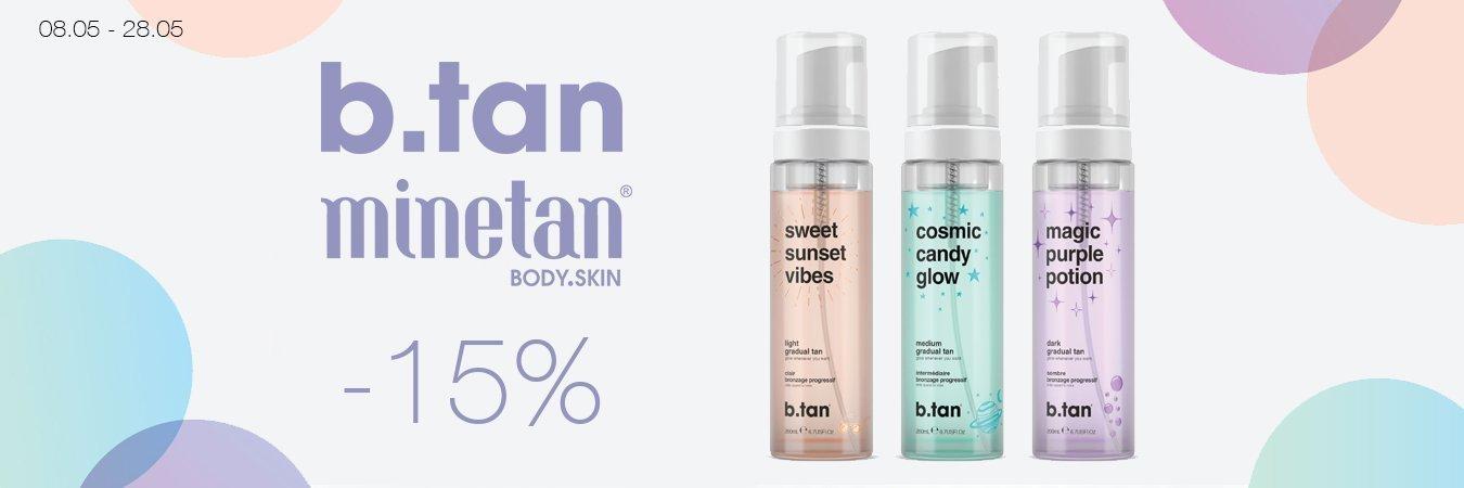B.Tan & Minetan -15%