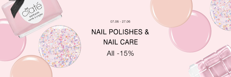 Nail polishes- and care -15%