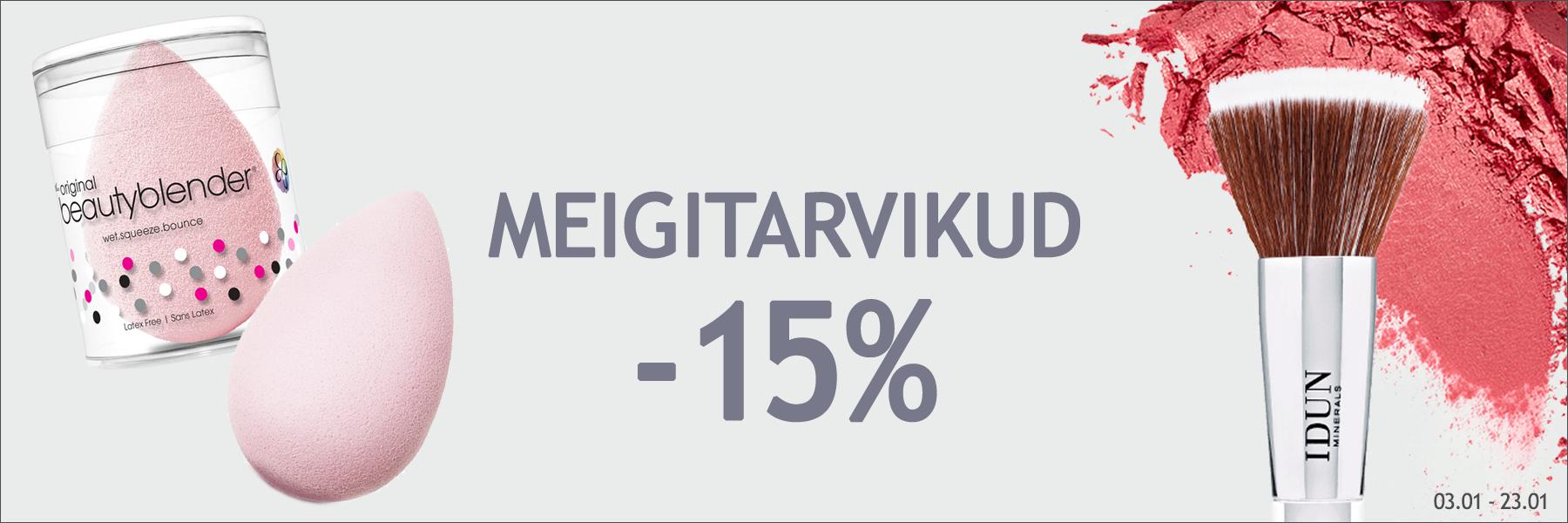 Meigitarvikud -15%