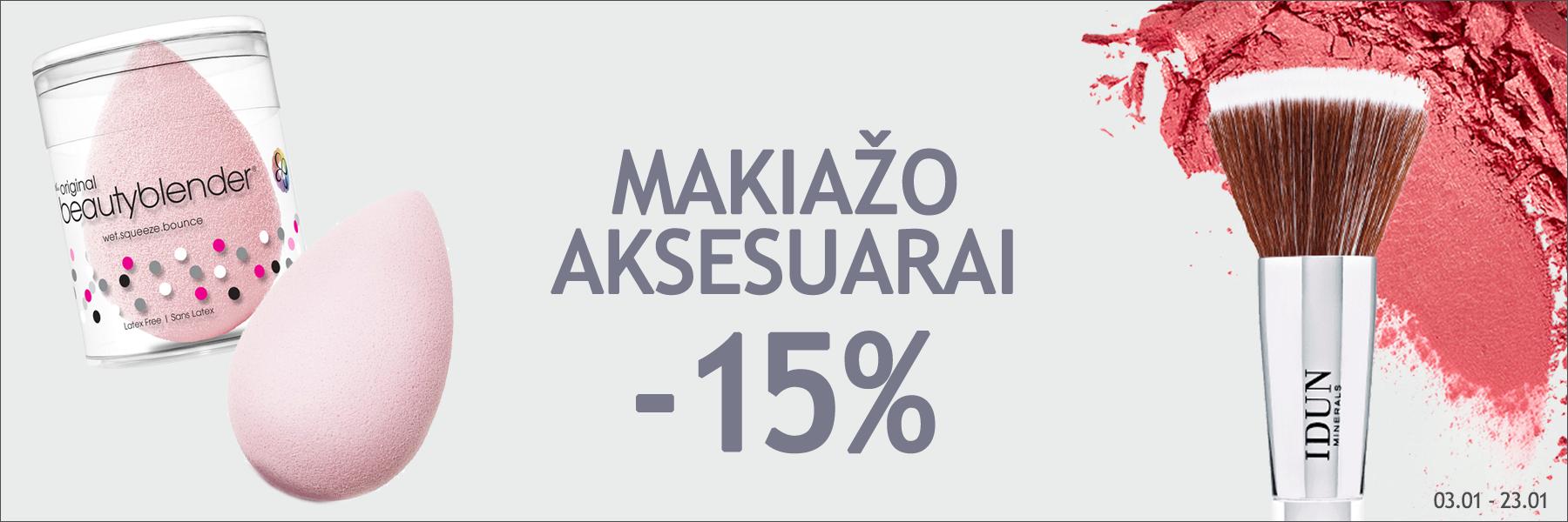 Makiažo aksesuarai -15%