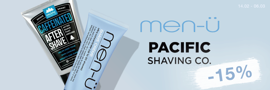 Men-Ü & Pacific Shaving -15%