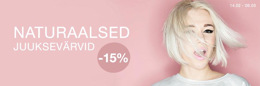 Naturaalsed juuksevärvid -15%