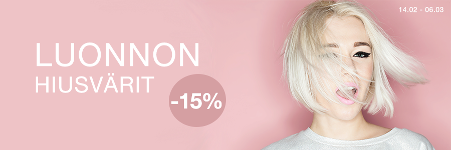 Luonnon hiusvärit -15%