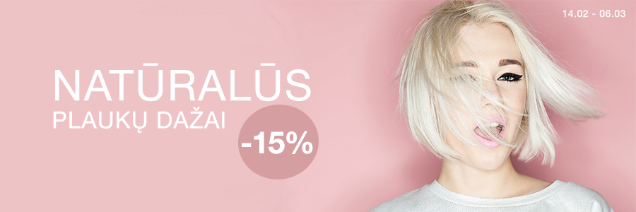 Natūralūs plaukų dažai -15%
