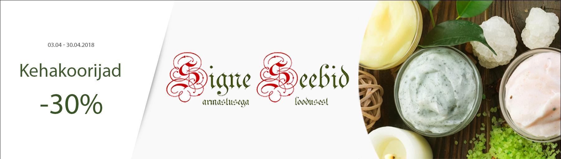 Signe Seebid kehakoorijad -30%