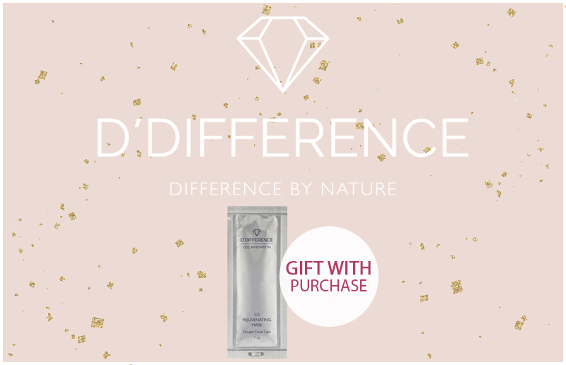 D'Difference. Gift with Purchase!